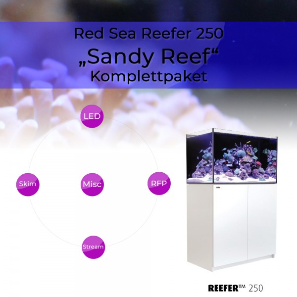 Red Sea Reefer 250 Komplettpaket - Sandy Reef
