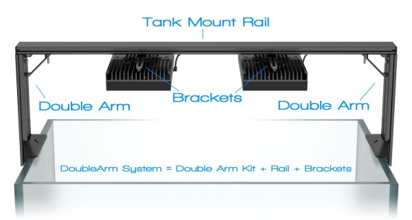 Aquaillumination Bracket für HMS (Tank Mount Bracket)